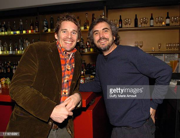 Ethan Hawke and Alfonso Cuaron during 'The Assassination of Richard Nixon' Special New York City Screening at Bryant Park Hotel in New York City New...