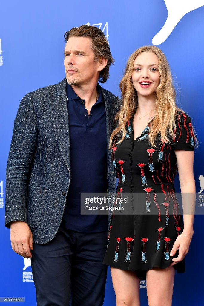 Ethan Hawke and Amanda Seyfried attend the 'First Reformed' photocall during the 74th Venice Film Festival on August 31, 2017 in Venice, Italy.