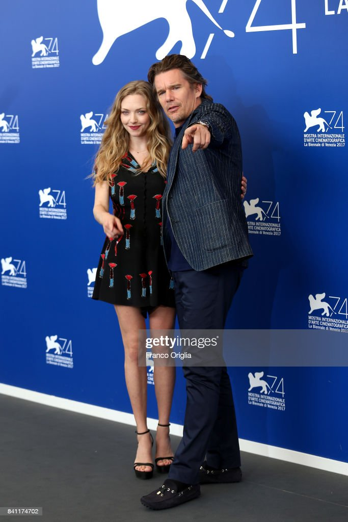Ethan Hawke and Amanda Seyfried attend the 'First Reformed' photocall during the 74th Venice Film Festival at Sala Casino on August 31, 2017 in Venice, Italy.