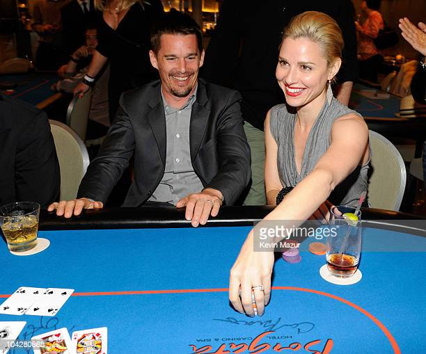 """Ethan Hawke and Cara Buono attend Labyrinth Theater Company's """"Poker LAB"""" Benefit sponsored by Borgata Hotel Casino & Spa at Soho House on September..."""