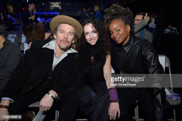 Ethan Hawke and Dee Rees attend the 2020 Sundance Film Festival Awards Night Ceremony at Basin Recreation Field House on February 01 2020 in Park...