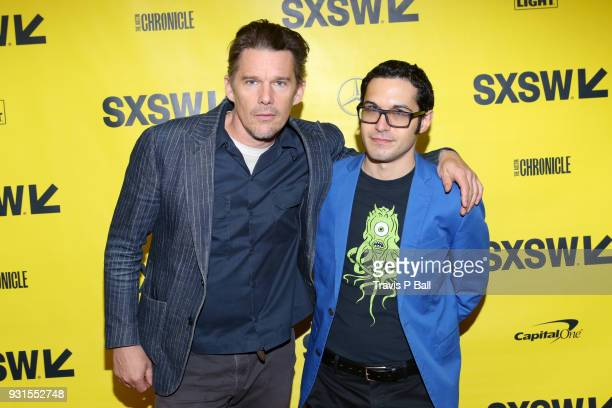 Ethan Hawke and Eric Kohn attend SXSW at Austin Convention Center on March 13 2018 in Austin Texas