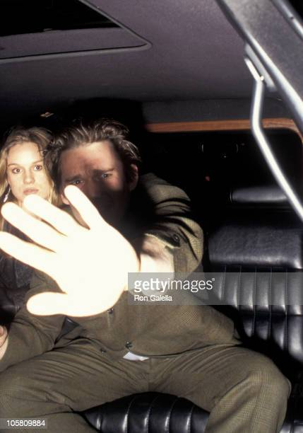Ethan Hawke and Julie Delpy during New York Premiere of 'Before Sunrise' at Village Theater East in New York City New York United States