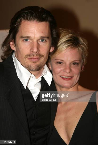 Ethan Hawke and Martha Plimpton during 'Shipwreck The Coast of Utopia Part 2' Opening Night Party at Avery Fisher Hall in New York City New York...