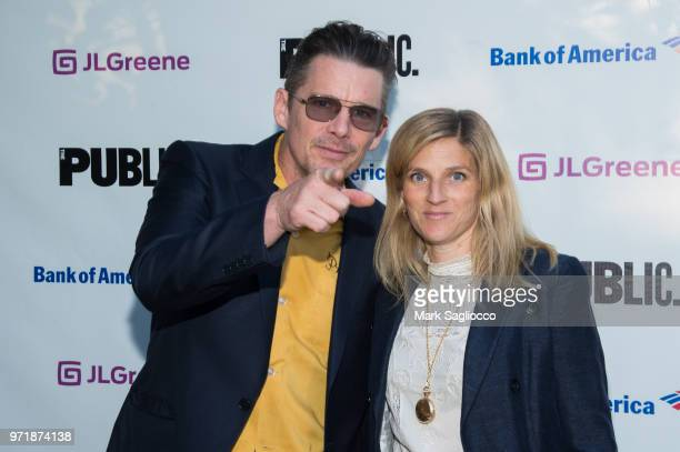 Ethan Hawke and Ryan Hawke attend the 2018 Public Theater Gala at Delacorte Theater on June 11 2018 in New York City