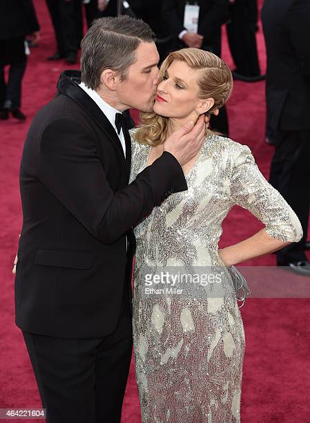 Ethan Hawke and Ryan Hawke attend the 87th Annual Academy Awards at Hollywood Highland Center on February 22 2015 in Hollywood California