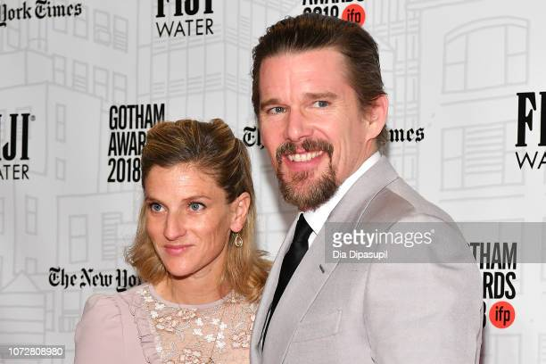 Ethan Hawke and wife Ryan Hawke attend the 2018 IFP Gotham Awards at Cipriani Wall Street on November 26 2018 in New York City