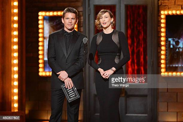 Ethan Hawke andcVera Farmiga speak onstage during the 68th Annual Tony Awards at Radio City Music Hall on June 8 2014 in New York City
