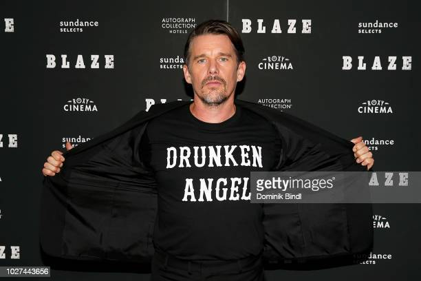 Ethan Hawke arrives for the New York screening of 'Blaze' at IFC Center on September 5 2018 in New York City
