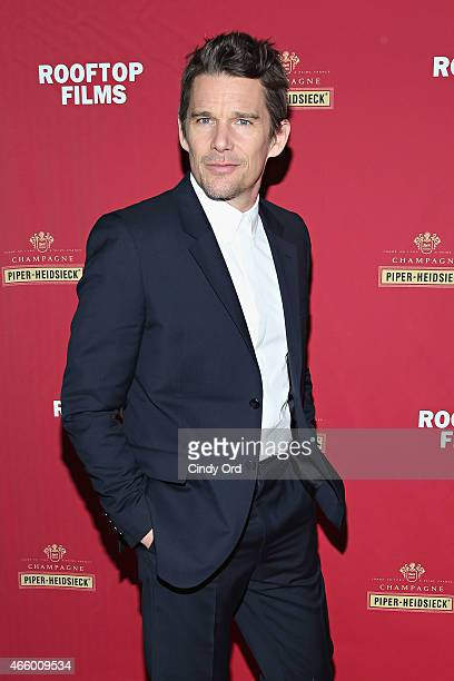 """Ethan Hawke attends as Champagne Piper-Heidsieck and Rooftop Films present a special preview of Ethan Hawke's new documentary """"Seymour: An..."""