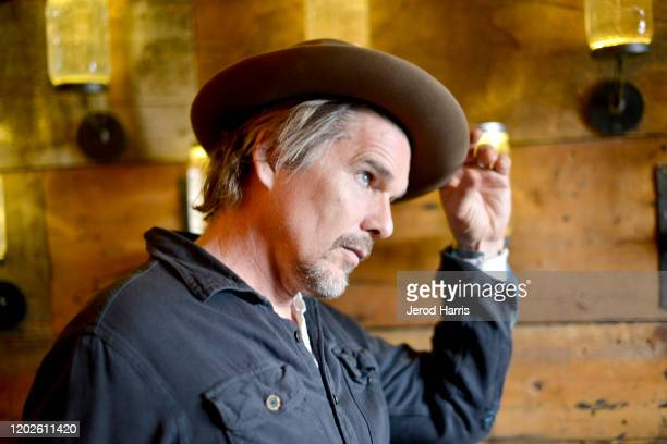 Ethan Hawke attends the 2020 Sundance Film Festival - Alfred P. Sloan Foundation Feature Film Prize Reception at High West Distillery on January 28,...