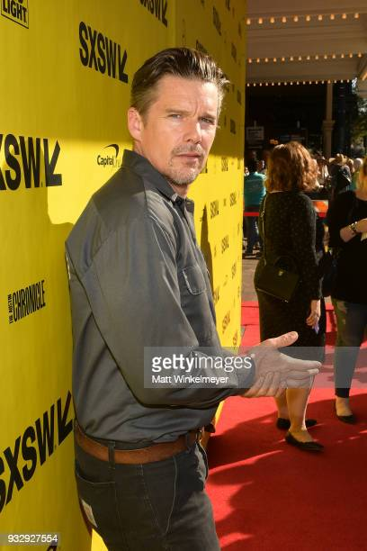 Ethan Hawke attends the Blaze Prmeiere 2018 SXSW Conference and Festivals at Paramount Theatre on March 16 2018 in Austin Texas