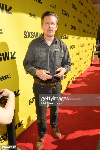 Ethan Hawke attends the 'Blaze' Prmeiere 2018 SXSW Conference and Festivals at Paramount Theatre on March 16 2018 in Austin Texas