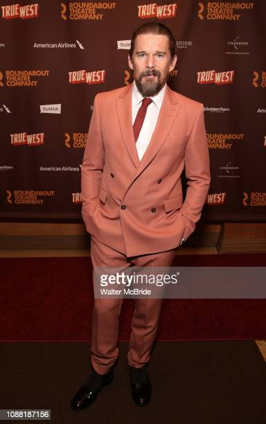 Ethan Hawke attends the Broadway Opening Night After Party for the Roundabout Theatre Production of True West at the American Airlines Theatre on...