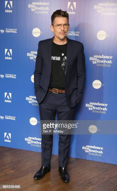 Ethan Hawke attends the 'First Reformed' red carpet arrivals during the Sundance Film Festival at Picturehouse Central on June 1 2018 in London...
