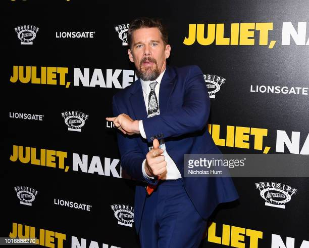 Ethan Hawke attends the Juliet Naked New York Premiere at Metrograph on August 14 2018 in New York City