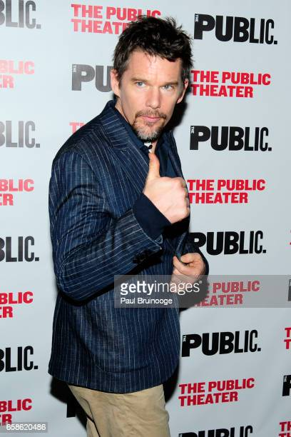 Ethan Hawke attends the Latin History For Morons Opening Night Celebration at The Public Theater on March 27 2017 in New York City