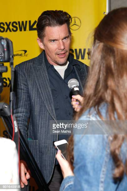 Ethan Hawke attends the premiere of 'First Reformed' during SXSW at Elysium on March 13 2018 in Austin Texas
