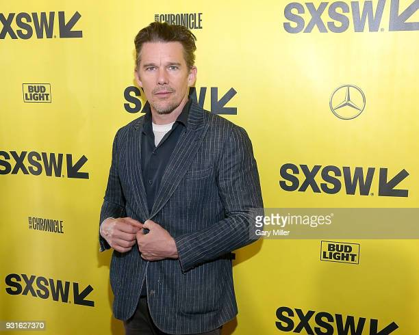 Ethan Hawke attends the premiere of the new film First Reformed at the Stateside Theatre during South By Southwest on March 13 2018 in Austin Texas