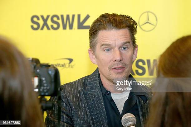 Ethan Hawke attends the premiere of the new film 'First Reformed' at the Stateside Theatre during South By Southwest on March 13 2018 in Austin Texas