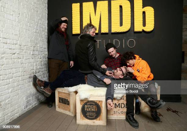 Ethan Hawke Charlie Sexton Ben Dickey Josh Hamilton and Alia Shawkat of 'Blaze' attend The IMDb Studio and The IMDb Show on Location at The Sundance...
