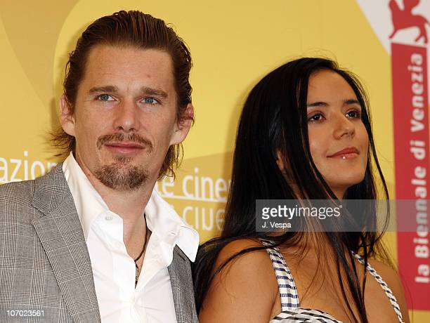 Ethan Hawke director and Catalina Sandino Moreno during The 63rd International Venice Film Festival The Hottest State Photocall at Palazzo del Casino...