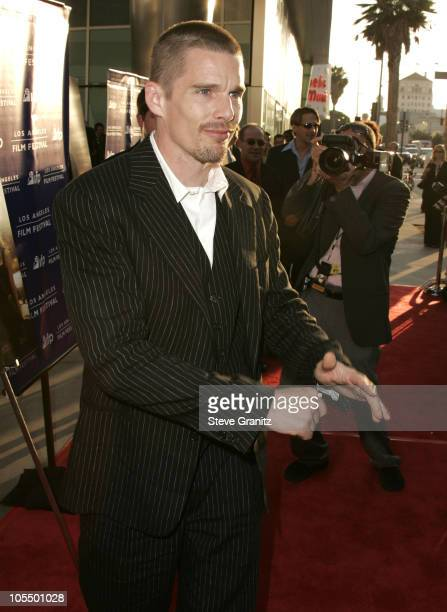 """Ethan Hawke during 2004 Los Angeles Film Festival - """"Before Sunset"""" Premiere at ArcLight Cinerama Dome in Hollywood, California, United States."""