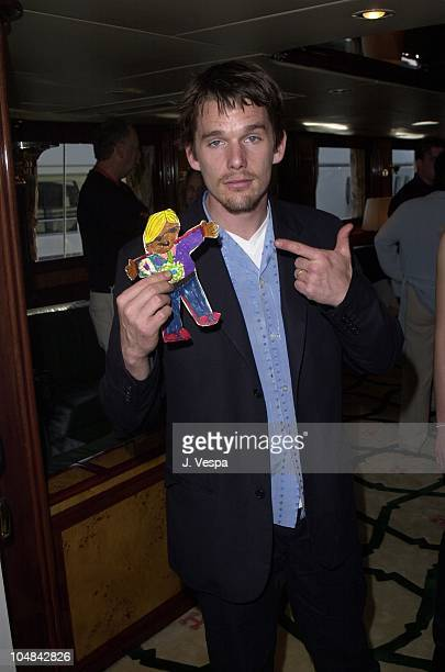 Ethan Hawke Flat Stanley during Cannes 2001 CineticLionsgate Party at Khashoggi Yacht in Cannes France