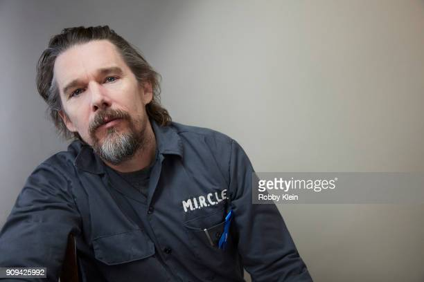 Ethan Hawke from the film 'Blaze' poses for a portrait at the YouTube x Getty Images Portrait Studio at 2018 Sundance Film Festival on January 21...