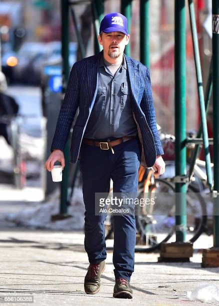 Ethan Hawke is seen in the East Village on March 21 2017 in New York City