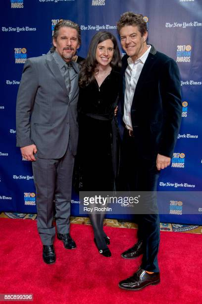 Ethan Hawke Lauren Schuker and Jason Blum attend the 2017 IFP Gotham Awards at Cipriani Wall Street on November 27 2017 in New York City