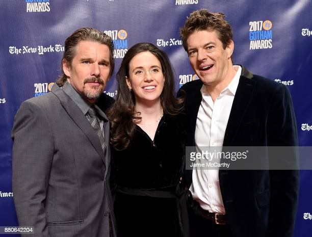 Ethan Hawke Lauren Schuker and producer Jason Blum attend the 2017 IFP Gotham Awards at Cipriani Wall Street on November 27 2017 in New York City