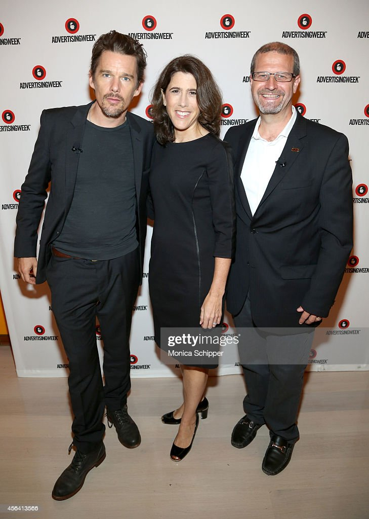 Ethan Hawke, Lisa Utzschneider and Keith Simanton attend the Live Taping of IMDB What To Watch w/Ethan Hawke during AWXI on September 30, 2014 in New York City.