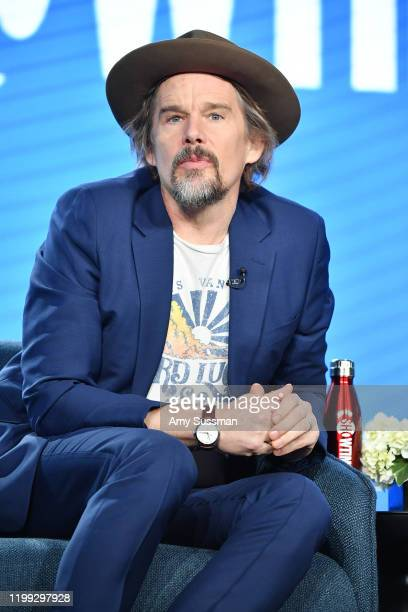 """Ethan Hawke of """"The Good Lord Bird"""" speaks during the Showtime segment of the 2020 Winter TCA Press Tour at The Langham Huntington, Pasadena on..."""
