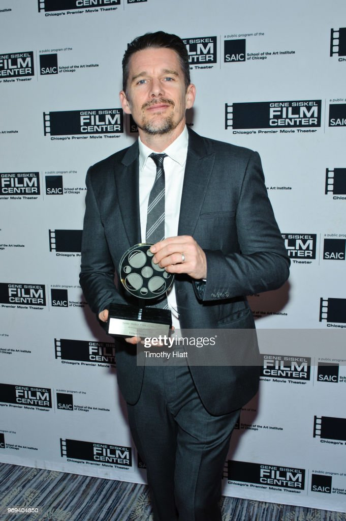 Ethan Hawke receives the Gene Siskel Film Center Renaissance Award at the Ritz Carlton on June 7, 2018 in Chicago, Illinois.