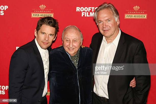 Ethan Hawke, Seymour Bernstein and President of IFC Entertainment, Jonathan Sehring attend as Champagne Piper-Heidsieck and Rooftop Films present a...