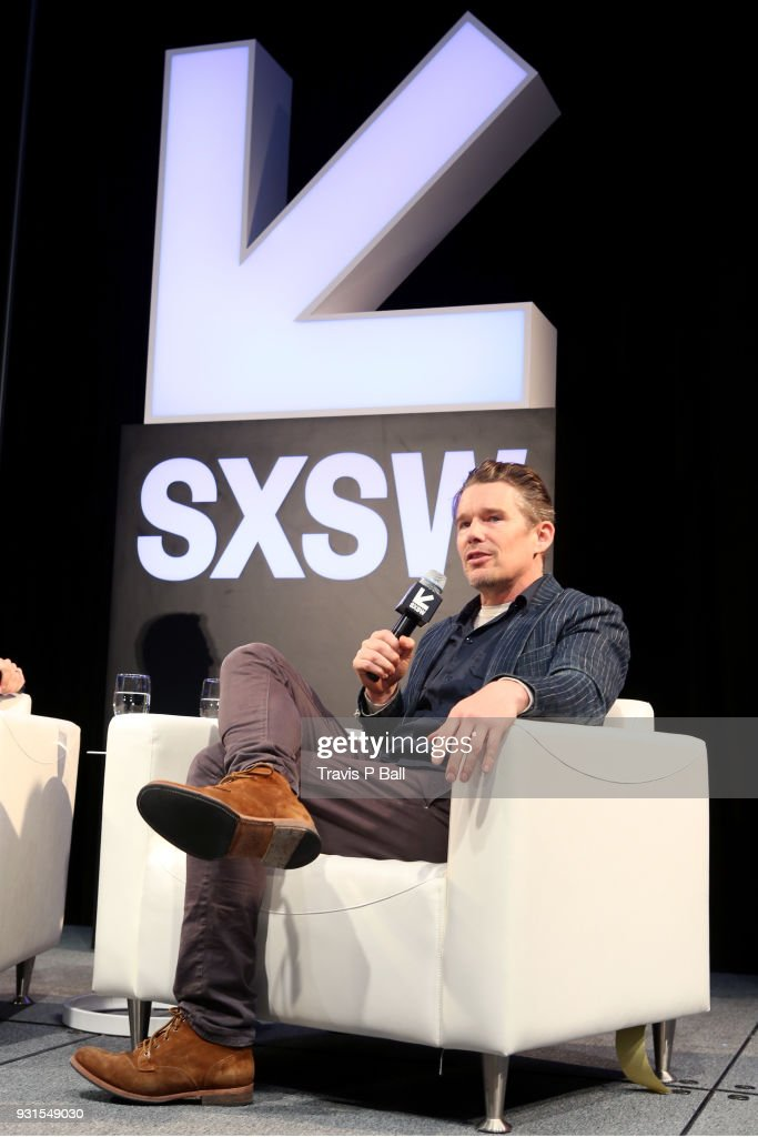 Ethan Hawke speaks onstage during SXSW at Austin Convention Center on March 13, 2018 in Austin, Texas.