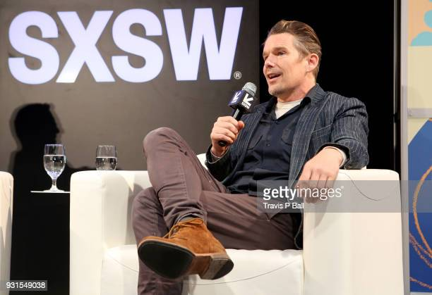 Ethan Hawke speaks onstage during SXSW at Austin Convention Center on March 13 2018 in Austin Texas