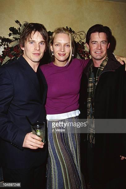 Ethan Hawke Uma Thurman Kyle MacLachlan during Sundance Film Festival 2000 Hamlet Dinner in Park City Utah United States