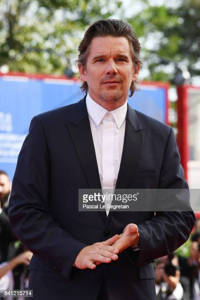 Ethan Hawke walks the red carpet ahead of the 'First Reformed' screening during the 74th Venice Film Festival at Sala Grande on August 31 2017 in...