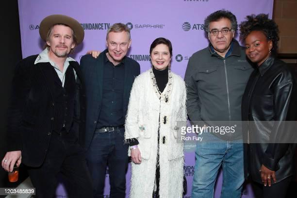 Ethan Hawke Wash Westmoreland Isabella Rosselini Rodrigo Garcia and Dee Rees pose backstage during the 2020 Sundance Film Festival Awards Night...