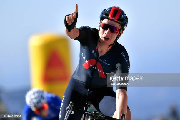 Ethan Hayter of United Kingdom and Team INEOS Grenadiers celebrates at arrival during the 47th Volta Ao Algarve 2021, Stage 2 a 182,8km stage from...