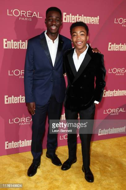 Ethan Herisse and Asante Blackk attend 2019 Entertainment Weekly PreEmmy Party at Sunset Tower on September 20 2019 in Los Angeles California