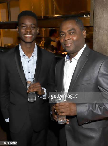 Ethan Herisse and guest attend Netflix's NAACP Image Awards Nominee Celebration at Hinoki & The Bird on March 22, 2019 in Los Angeles, California.