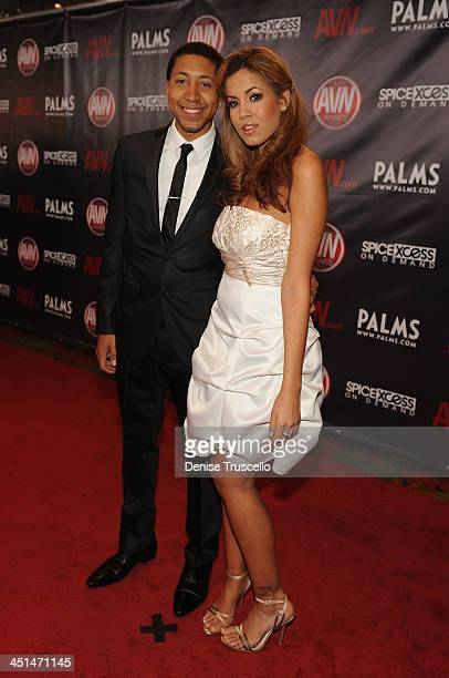 Ethan Hunt and Isis Taylor arrives at the 2010 AVN Awards at The Palms Casino Resort on January 9 2010 in Las Vegas Nevada