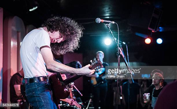 Ethan Ives of Car Seat Headrest performs at 100 Club on JUNE 21 2016 in London England