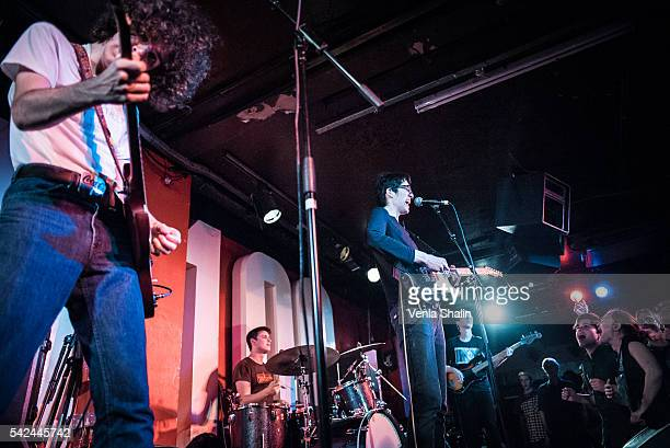 Ethan Ives Will Toledo and Andrew Katz of Car Seat Headrest performs at 100 Club on JUNE 21 2016 in London England