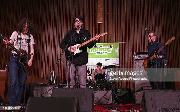 Ethan Ives Will Toledo Andrew Katz and Seth Dalby of Car Seat Headrest perform onstage at Under the Radar during the 2016 SXSW Music Film Interactive...