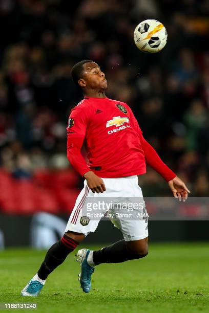 Ethan Laird of Manchester United during the UEFA Europa League group L match between Manchester United and AZ Alkmaar at Old Trafford on December 12...