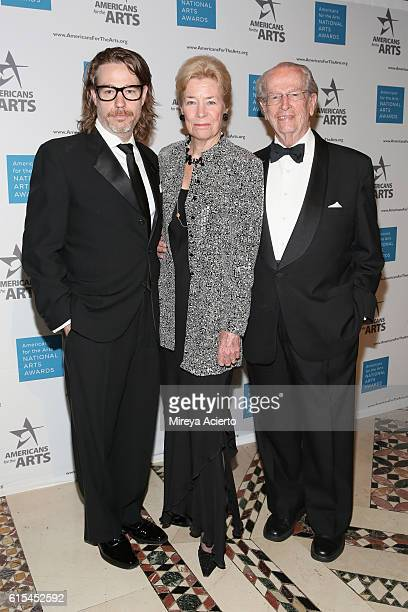 Ethan McSweeney Dorothy McSweeney and Bill McSweeney attend the 2016 National Arts Awards at Cipriani 42nd Street on October 17 2016 in New York City